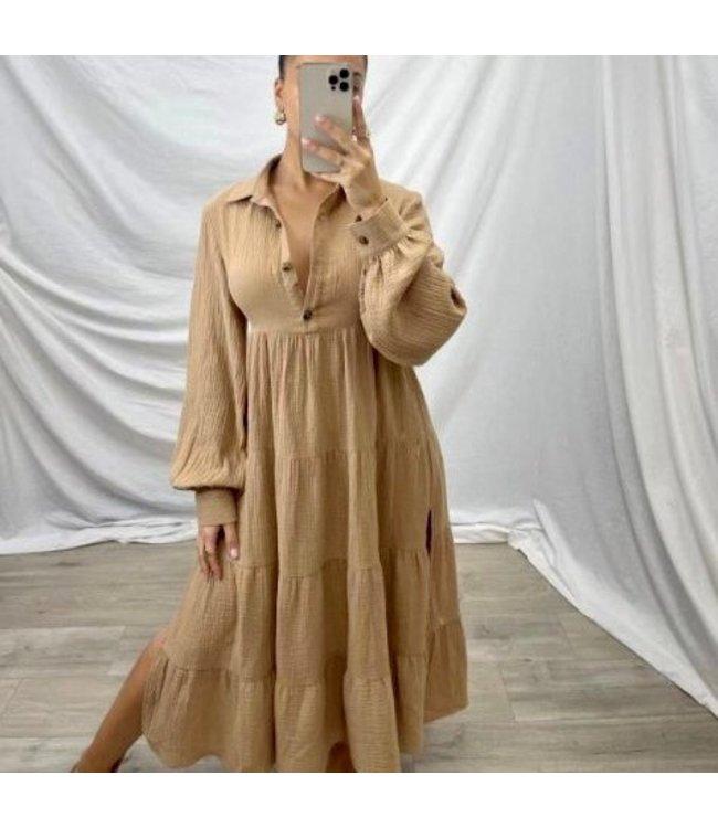 DIOR DRESS - CARAMEL
