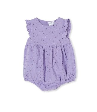 Milky DUSTY LILAC BRODERIE PLAYSUIT