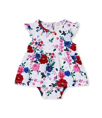 Milky BOUQUET FLORAL BABY DRESS