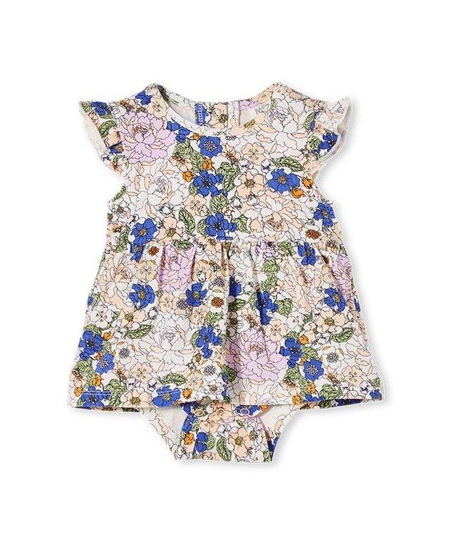 Milky PEONY FLORAL BABY DRESS
