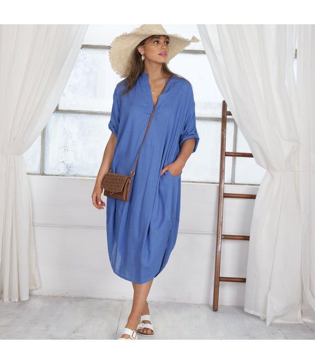 ELOISE DRESS - COBALT BLUE