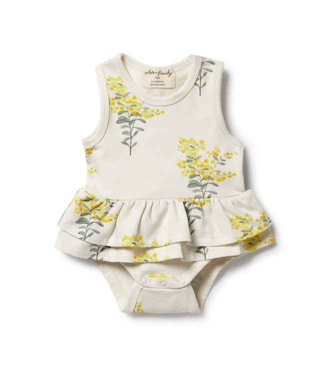 WILSON AND FRENCHY LITTLE BLOSSOM RUFFLE BODYSUIT