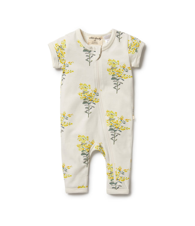 WILSON AND FRENCHY LITTLE BLOSSOM ORGANIC ZIPSUIT