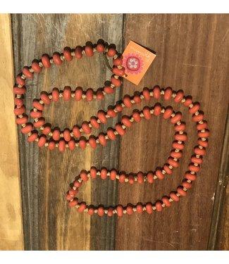 Anna Chandler Designs JELLYBEAN NECKLACE - ORANGE RED