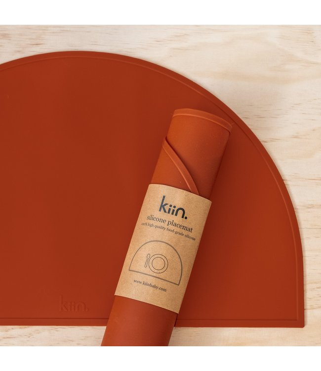 kiin SILICONE PLACEMAT - RUST