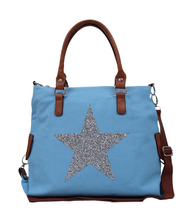 STAR POWER CANVAS BAG - BLUE