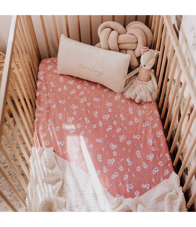 SNUGGLE HUNNY KIDS DAISY - FITTED COT SHEET