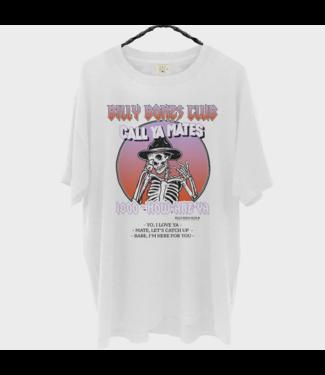 BILLY BONES CLUB CALL YA MATES TEE - WHITE