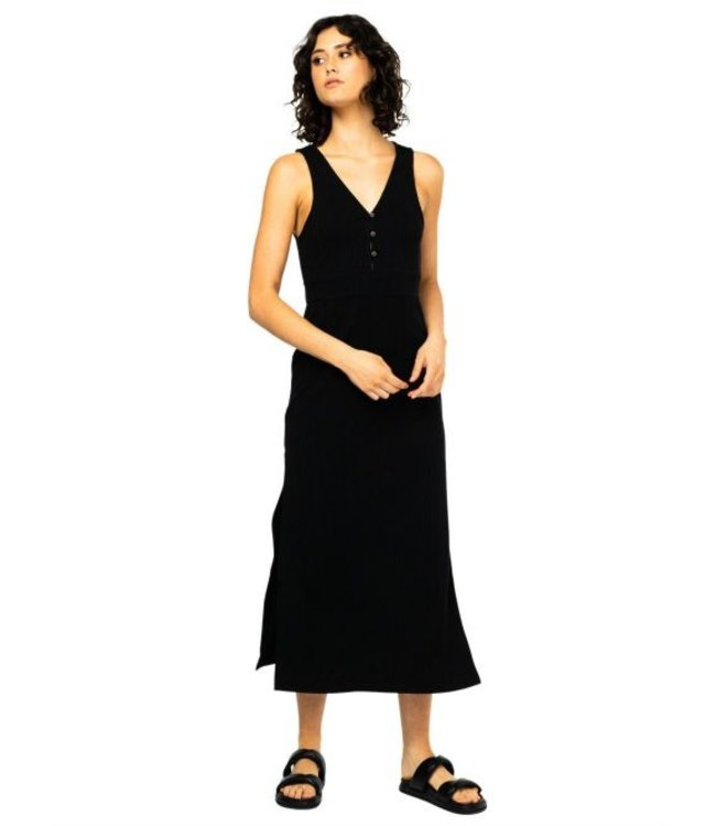 RUSTY MILLY MIDI DRESS - BLACK