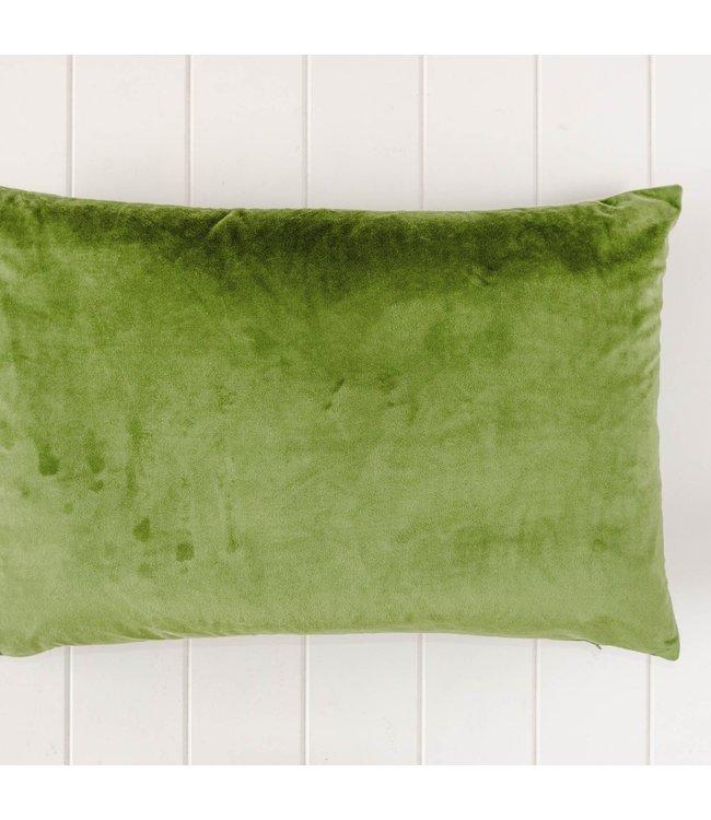 OLIVE GREEN VELVET CUSHION