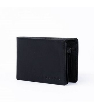RUSTY BUSTED LEATHER WALLET - BLACK