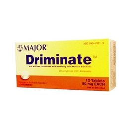 OTC Driminate 50mg 12ct (Dramamine)