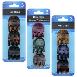 Hair Clips 3 Count Assorted