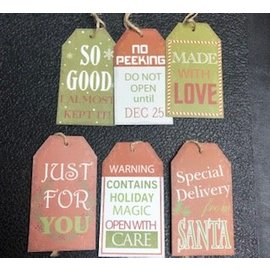 NEW!Assorted Gift Tags 6 piece