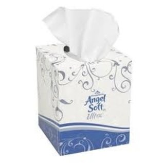 Angel Soft Ultra Facial Tissues - Cube 96-count