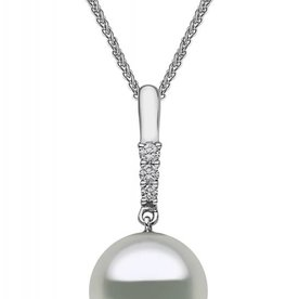 Diamond Pearl Drop Earring