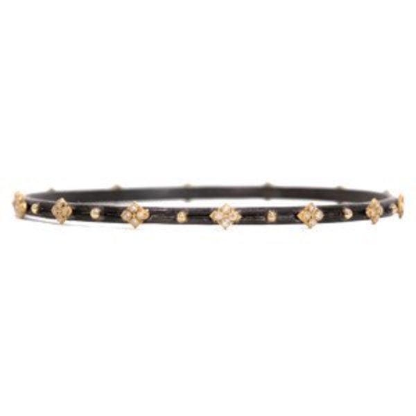 Armenta Bracelet Size small MN bangle bracelet with yellow gold white diamond cravellis.