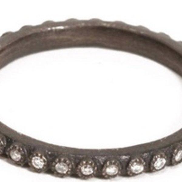 Armenta RING Size 6.5 Sm(.20cts)MN diamond stack ring.