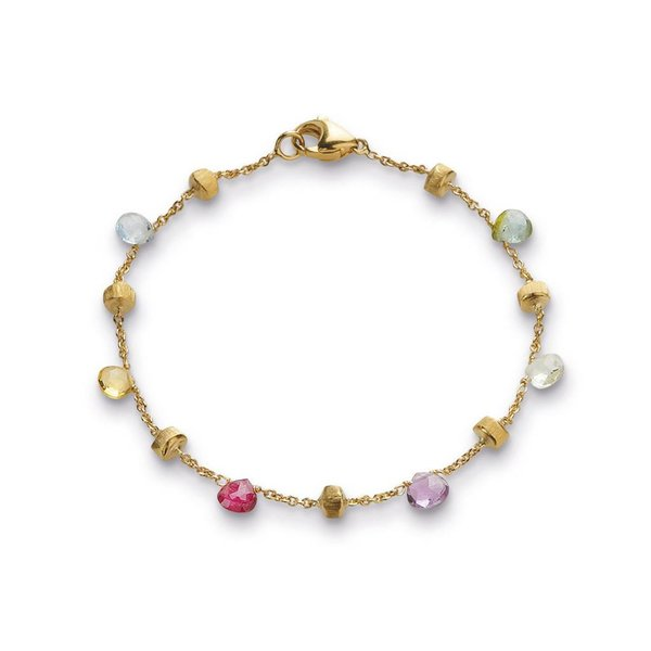 MARCO BICEGO 18K Yellow Gold & Mixed Stone Single Strand Bracelet