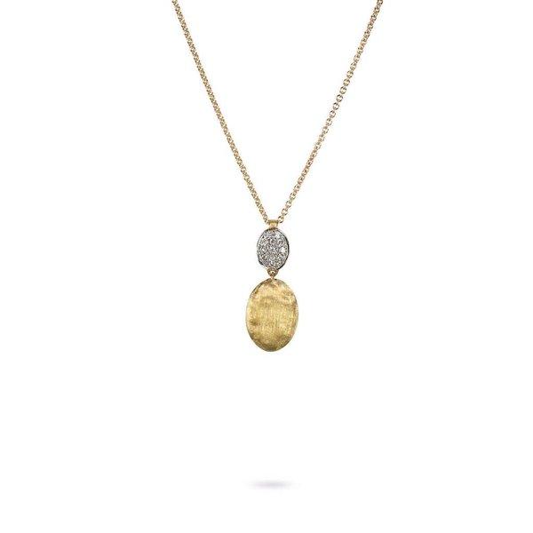 MARCO BICEGO 18K Yellow Gold & Diamond Pave Two Bead Pendant