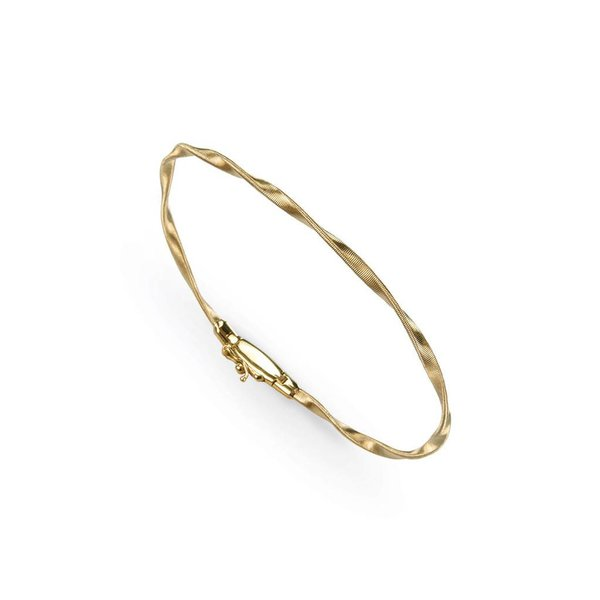 MARCO BICEGO 18k hand twisted yellow gold bracelet.