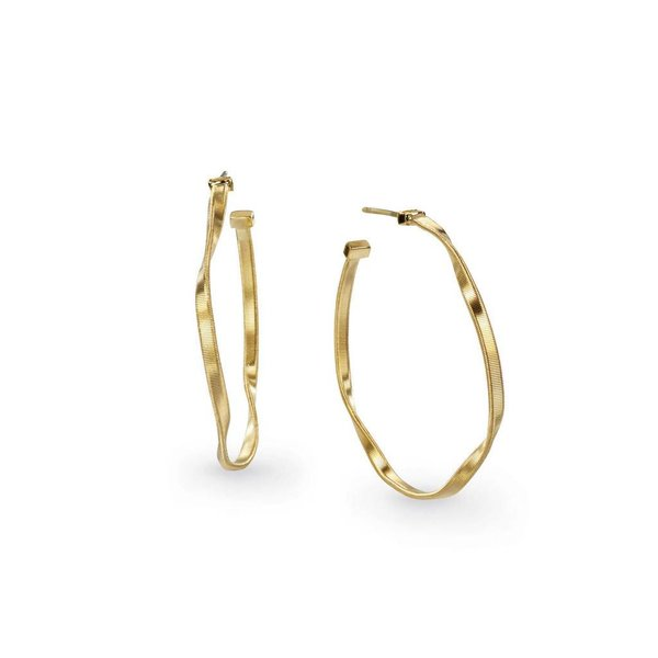 MARCO BICEGO 18k hand twisted yellow gold earrings