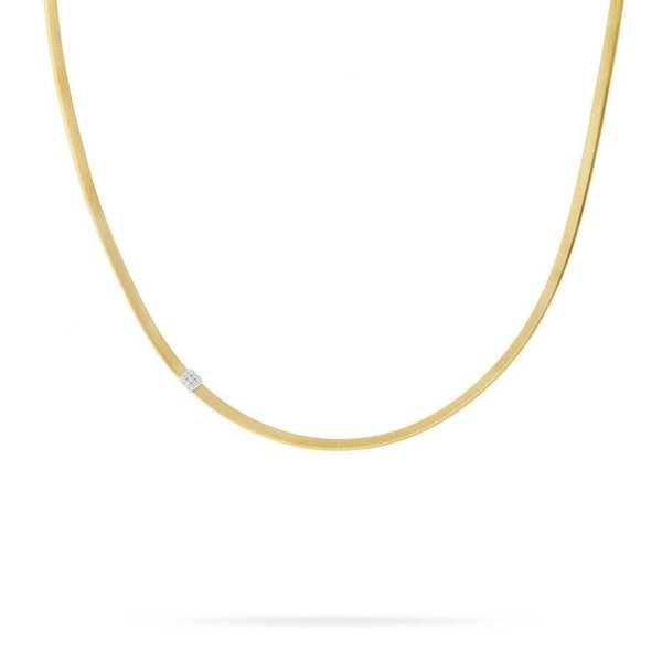 MARCO BICEGO 18K Single Station Diamond Necklace in Yellow Gold