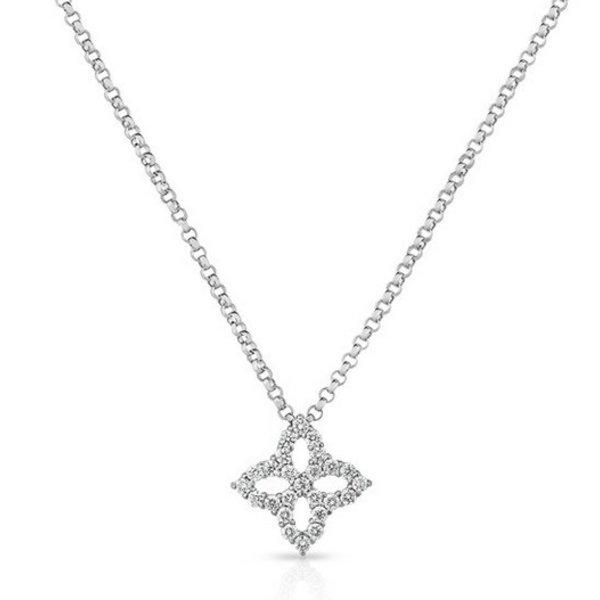 18KT White Gold Diamond Princess Necklace