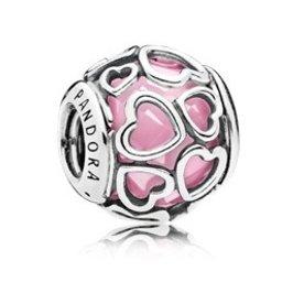 Pandora Encased in Love, Pink Charm