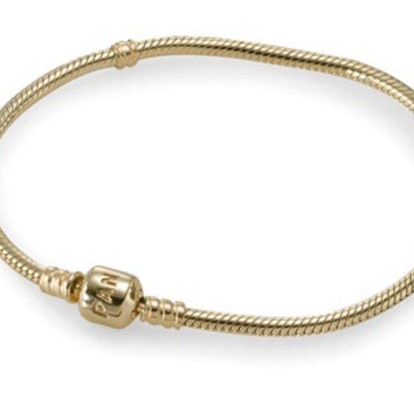 Pandora Gold Signature Bracelet, Size 17