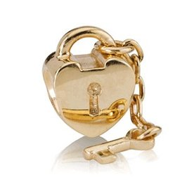 Pandora Key To My Heart Gold Charm