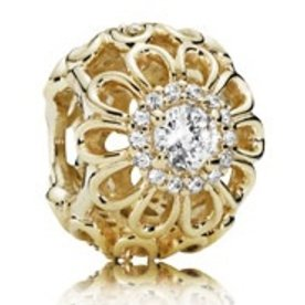 Pandora Floral Brilliance Gold Charm