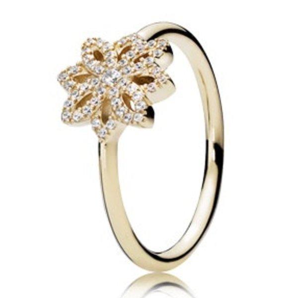 Pandora Lace Botanique Gold Ring, Size 8.5