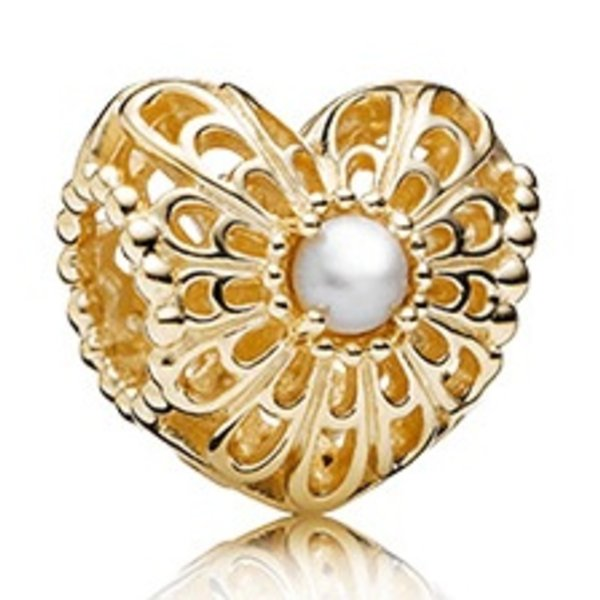 Pandora Vintage Heart Charm