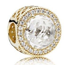 Pandora Radiant Hearts Charm, Gold
