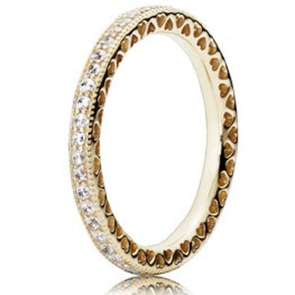 Pandora Hearts of Pandora Gold Ring, Size 7