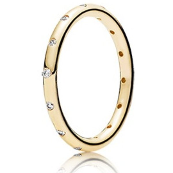 Pandora Droplets Gold Ring, Size 4.5
