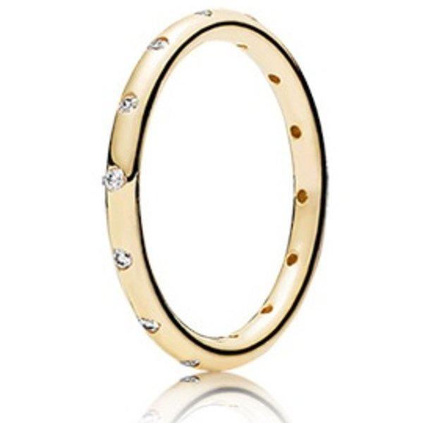 Pandora Droplets Gold Ring, Size 5