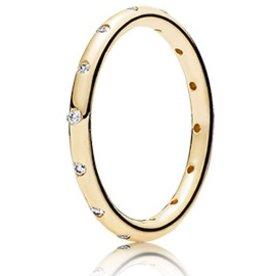 Pandora Droplets Gold Ring, Size 6
