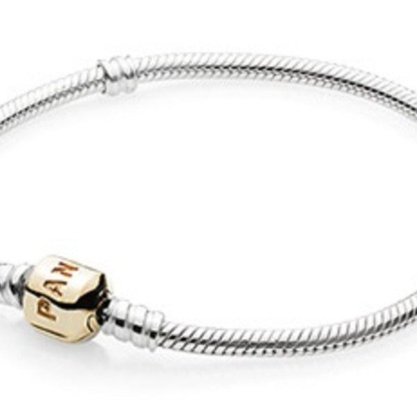 Pandora Two-Tone Signature Bracelet, Size 20