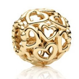 Pandora Open Your Heart Charm, Gold