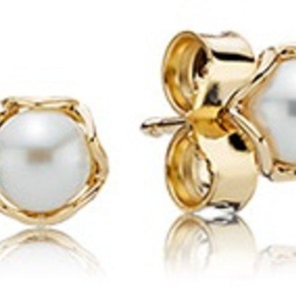Pandora Cultured Elegance White Pearl Earrings