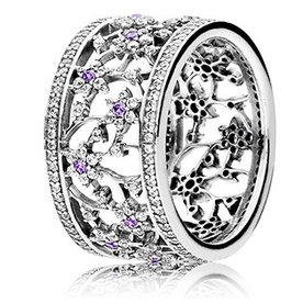 Pandora Forget Me Not Ring, Size 6