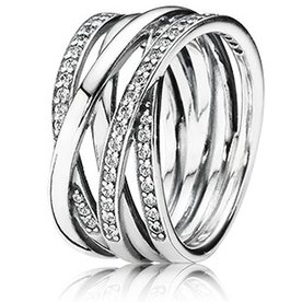 Pandora Entwined Ring, Size 7.5