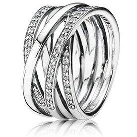 Pandora Entwined Ring, Size 8.5