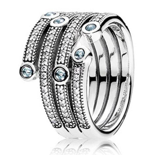 Pandora Shimmering Ocean Ring, Size 7