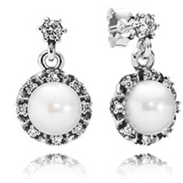 Pandora Everlasting Grace Drop Pearl Earrings