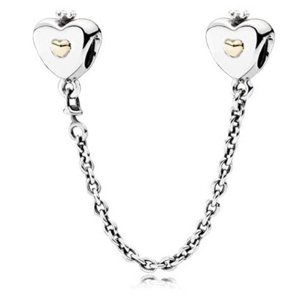 Pandora Heart & Crown Safety Chain