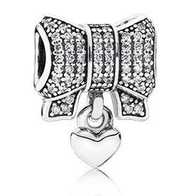 Pandora Heart & Bow Charm