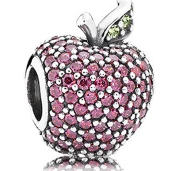 Pandora Red Pave Apple Charm
